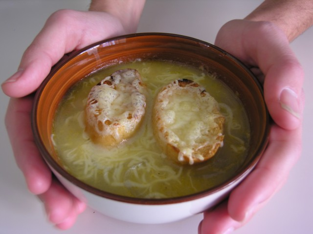 Sopa de ceba gratinada