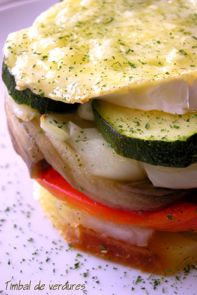 Timbal de verdures i formatge